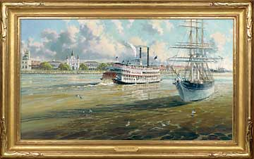 Steamer Natchez Signaling The Barque Elissa of Galveston