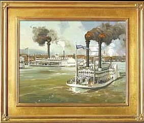 The Great Steamboat Race Between The Rob't. E. Lee And The Natchez